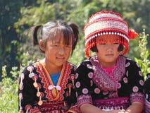 Stammes- Mädchen in Thailand stockbild