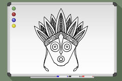Stammes- Maske ethnisch Lizenzfreie Stockfotos