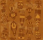 Stammes- Masken-nahtlose Beschaffenheit Stockfotos