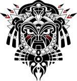 Stammes- Maskenvektorillustration Lizenzfreie Stockfotos