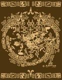 Stammes- Mayaelemente Lizenzfreie Stockbilder