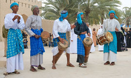 Stammes- Musiker von Oman Stockfotografie