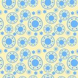 Stammes- Muster in den gelben und blauen Farben Stockfotografie
