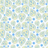 Stammes- Muster in den gelben und blauen Farben Lizenzfreie Stockfotografie