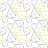 Stammes- Muster in den gelben und grauen Farben Lizenzfreies Stockbild