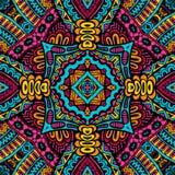 Stammes- Muster des abstrakten festlichen bunten Vektors Lizenzfreies Stockfoto