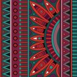 Stammes- Muster des ethnischen Hintergrundes des abstrakten Vektors Stockbilder