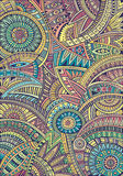 Stammes- Muster des ethnischen Hintergrundes des abstrakten Vektors Stockfotografie