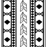 Stammes- Muster des Vektors mit dem nahtlose Handgezogenen Afrikaner ethnisch in Schwarzweiss Gut f?r Ihre Textilmodeverpackung u vektor abbildung