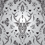 Stammes- Muster Nahtloses Muster Lizenzfreie Stockfotografie