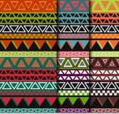 Stammes- Mustersatz Lizenzfreie Stockfotografie