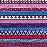 Stammes- nahtlose Muster-, indische oder afrikanischeethnische Patchworkmehrfarbenart Stockfoto