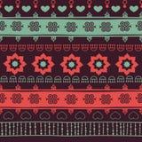 Stammes- nahtloses Muster Stockbilder