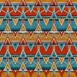 Stammes- nahtloses Muster Bunter abstrakter vektorhintergrund vektor abbildung