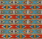 Stammes- nahtloses Muster Bunter abstrakter vektorhintergrund lizenzfreie abbildung