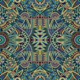 Stammes- nahtloses Muster des ethnischen Hintergrundes Stockfotos