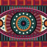 Stammes- nahtloses Muster des ethnischen Hintergrundes des abstrakten Vektors Stockbild