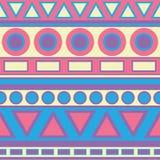 Stammes- Pastellmuster stock abbildung