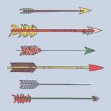 Stammes- Pfeile stellten Richtungs-Illustration ein Lizenzfreies Stockfoto
