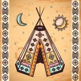 Stammes- Satz des amerikanischen Ureinwohners Symbole Lizenzfreies Stockfoto