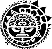 Stammes- Sonnenmasken-Vektorillustration Stockbilder