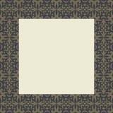 Stammes- Strudel-Quadrat-Rahmen Lizenzfreies Stockfoto
