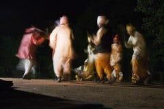 Stammes- Tanz in Madhya Pradesh Stockbilder