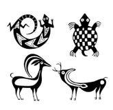 Stammes- Tiere Lizenzfreie Stockfotos