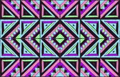 Stammes- Vektorverzierung Nahtloses afrikanisches Muster Ethnisches Design auf dem Teppich Aztekische Art vektor abbildung