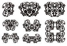 Stammes- Vogelsymbole vom Schmetterlingsflügel Stockfotos