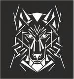 Stammes- Wolftätowierung Stockfotografie