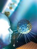 Stammzellen und ein Mensch Stockfotografie