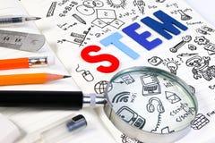 STAMonderwijs De Techniekwiskunde van de wetenschapstechnologie royalty-vrije stock foto
