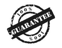 Stamp 100% Guarantee. Can be used where something is guaranteed, '100%' can be replaced with any text Royalty Free Stock Photo