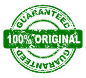Stamp with 100% guaranteed. Grunge stamp with 100% guaranteed, vector Royalty Free Stock Photos