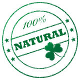Stamp 100% natural Royalty Free Stock Images