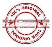 Stamp with 100% original. Grunge stamp with 100% original royalty free illustration