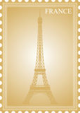 Stamp. The French stamp, Tourd'Eiffel Stock Images