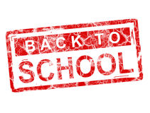 Stamp. Back to school stamp over white background, isolated image Stock Photography
