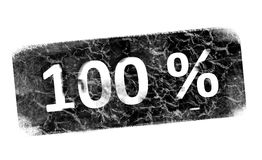 Stamp. 100 percent black stamp over white background Royalty Free Stock Image