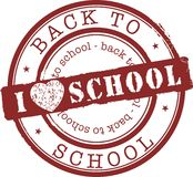 Stamp. Illustration of stamp back to school Stock Image