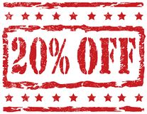 Stamp - 20 Percent Off Royalty Free Stock Images