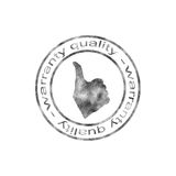 Stamp. Abstract seal, stamp giving warranty quality Stock Image