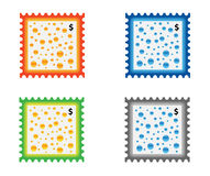 Stamp. Illustration of stamp with water drops vector illustration