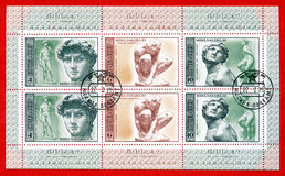 Stamp 500 years since the birth of Michelangelo Royalty Free Stock Images