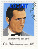 Stamp with actor Humphrey Bogart Stock Image