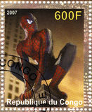 Stamp with actor Tobey Maguire Stock Photos