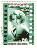 Stamp actress Jeanette MacDonald Royalty Free Stock Photos