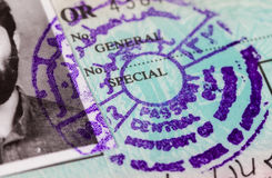 Stamp in Afghanistan passport Royalty Free Stock Photo