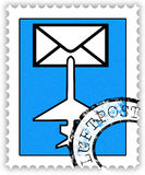 Stamp airmail Stock Photo